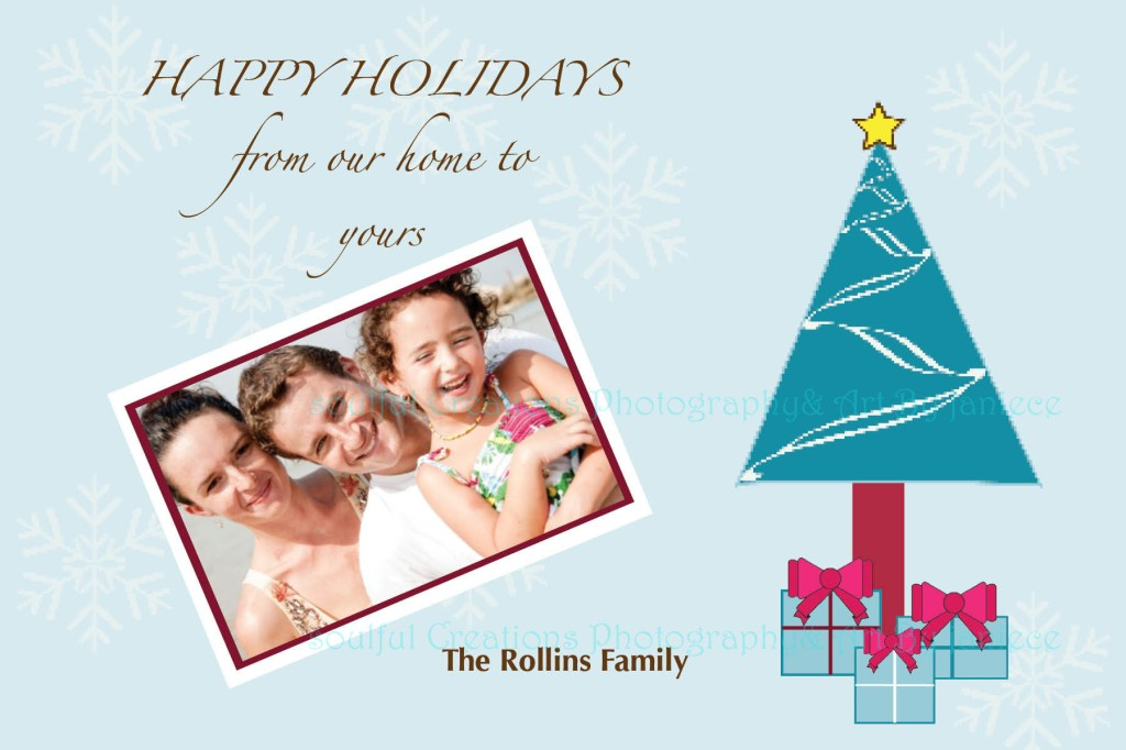 Custom and Personalized Photo Christmas Holiday Card 4X6 or 5X7 Christmas Tree with Gifts – Etsy